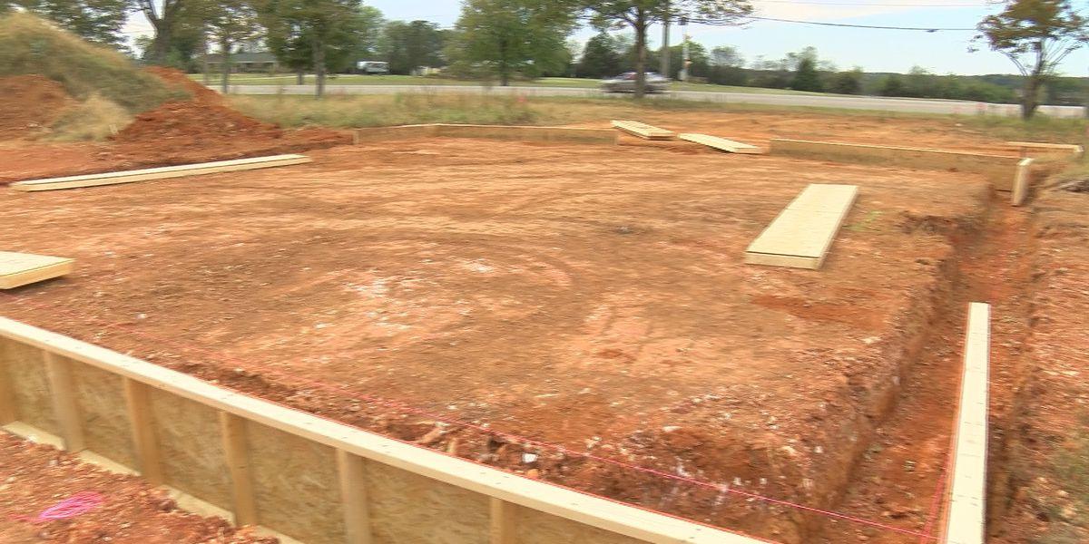 New fire station in Hazel Green under construction