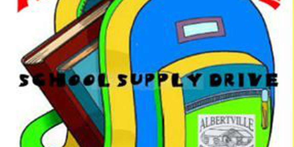 Albertville Chamber of Commerce to hold school supply drive