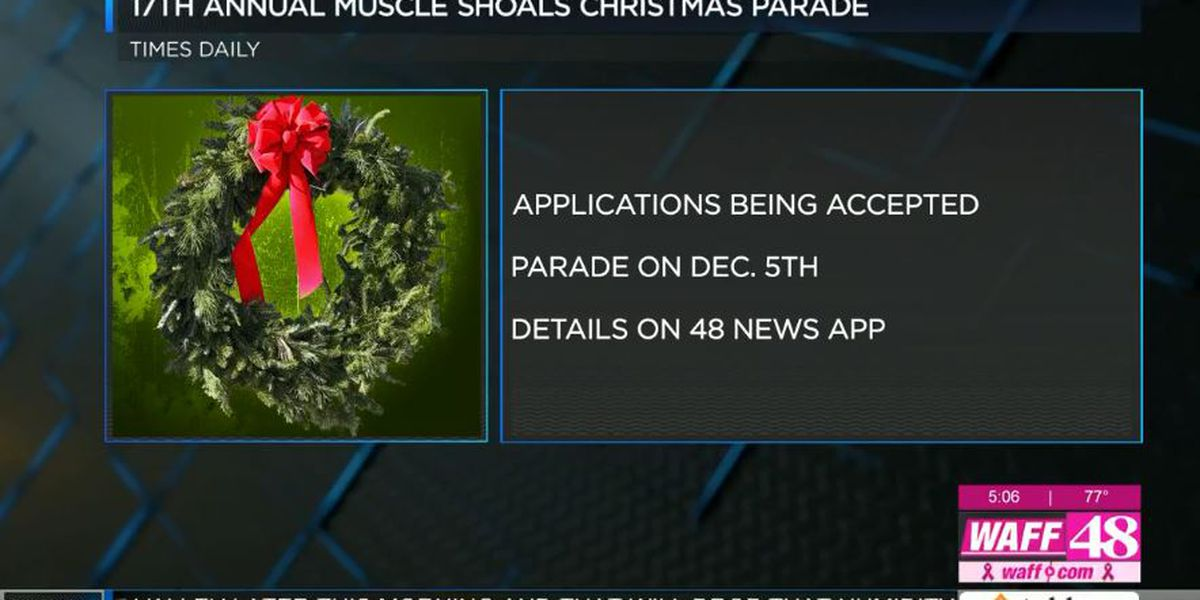 Muscle Shoals accepting parade applications
