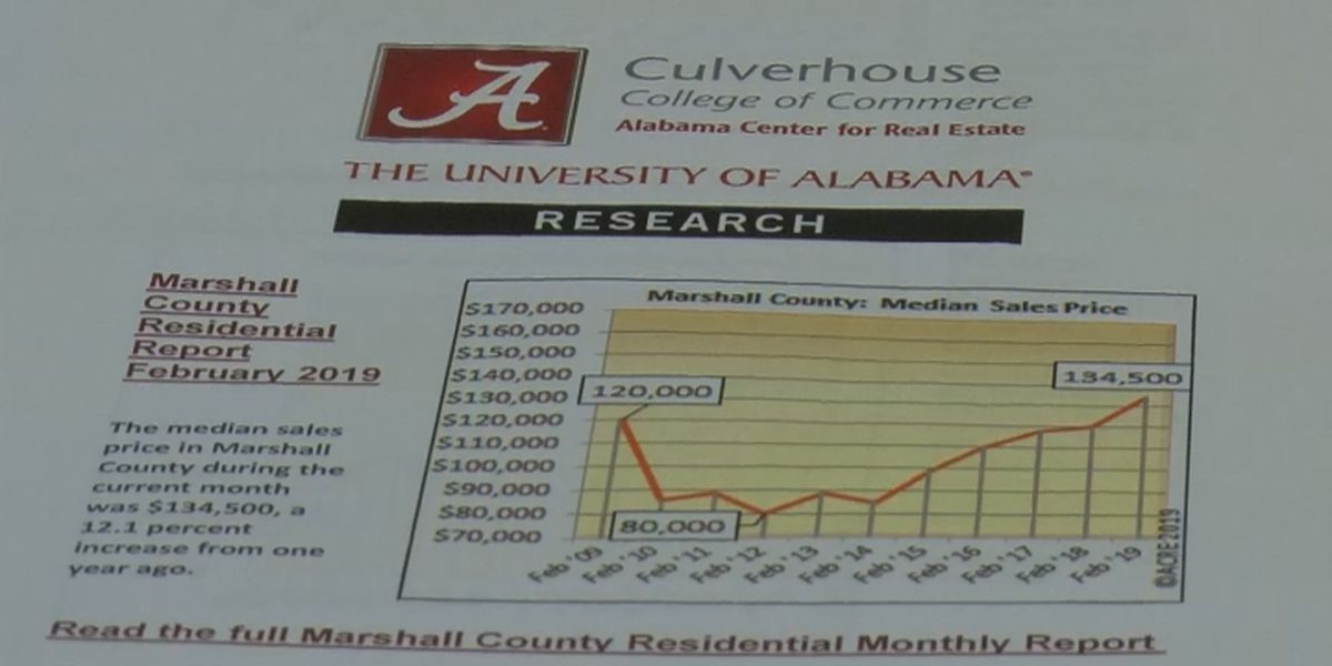 Home prices in Marshall County up 12 percent above last year