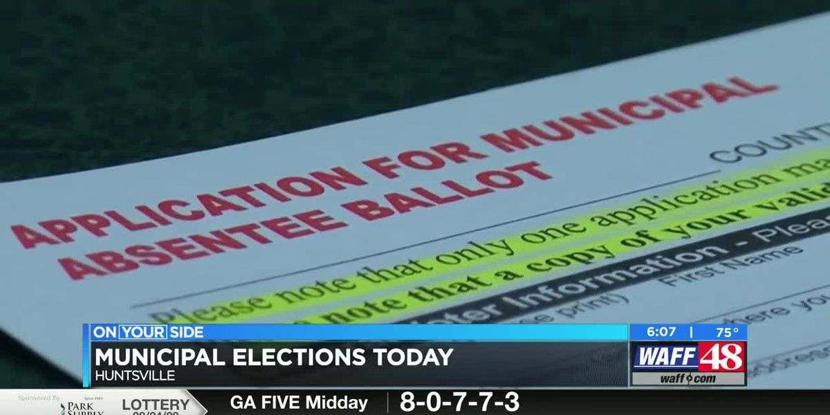 Huntsville City and Madison City municipal elections happening today