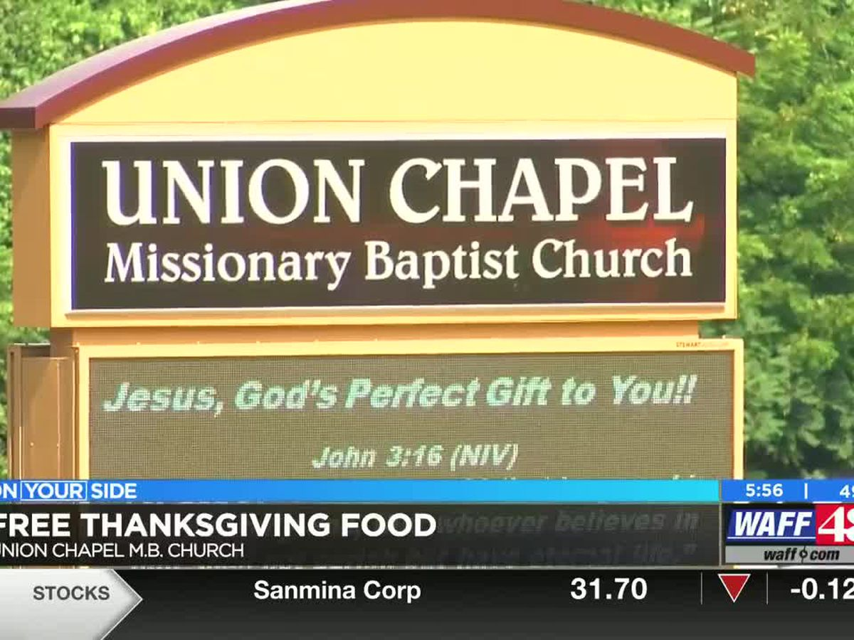 Union Chapel M.B. Church giving out free Thanksgiving food