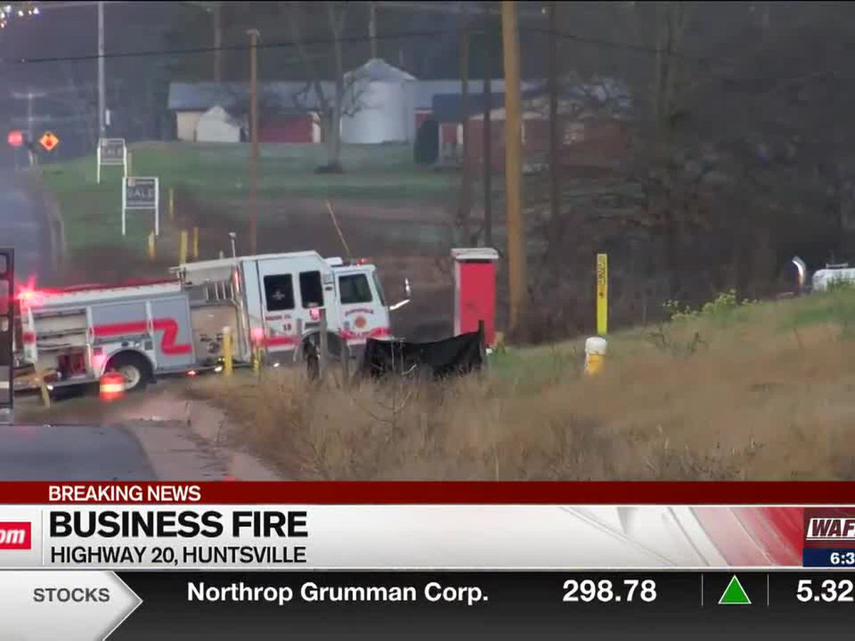 Crews on scene of Old Highway 20 business fire in Huntsville