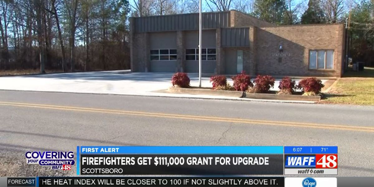 Scottsboro firefighters get $111K grant for upgrades