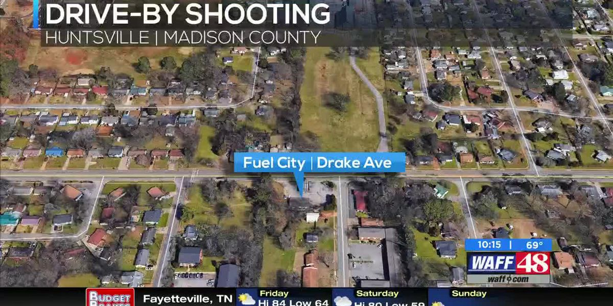 Woman injured in drive-by shooting at south Huntsville gas station