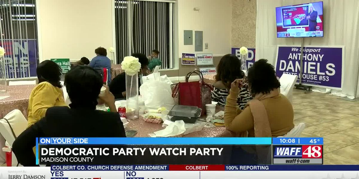 Democratic party watch party in Madison County