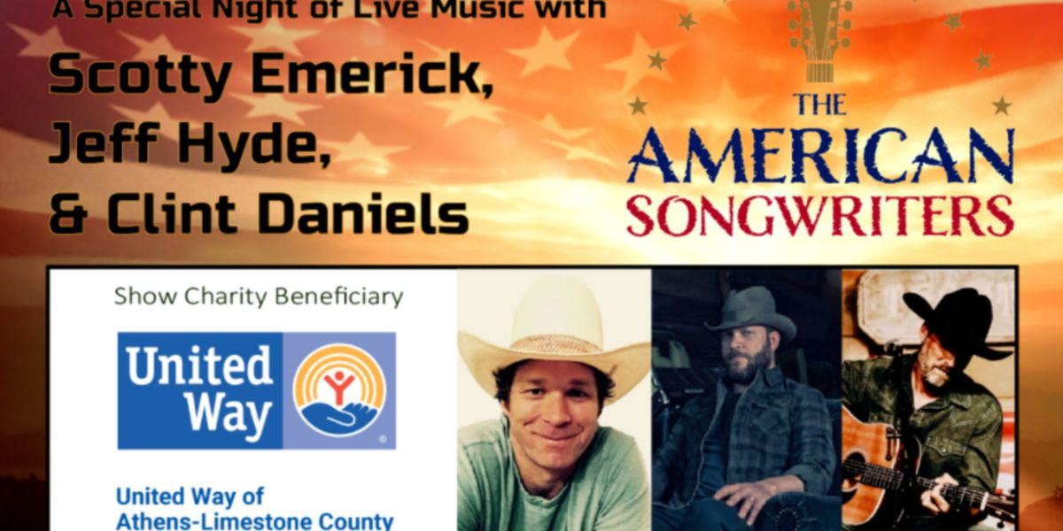 Singer-songwriters to play benefit show for United Way of Athens-Limestone County