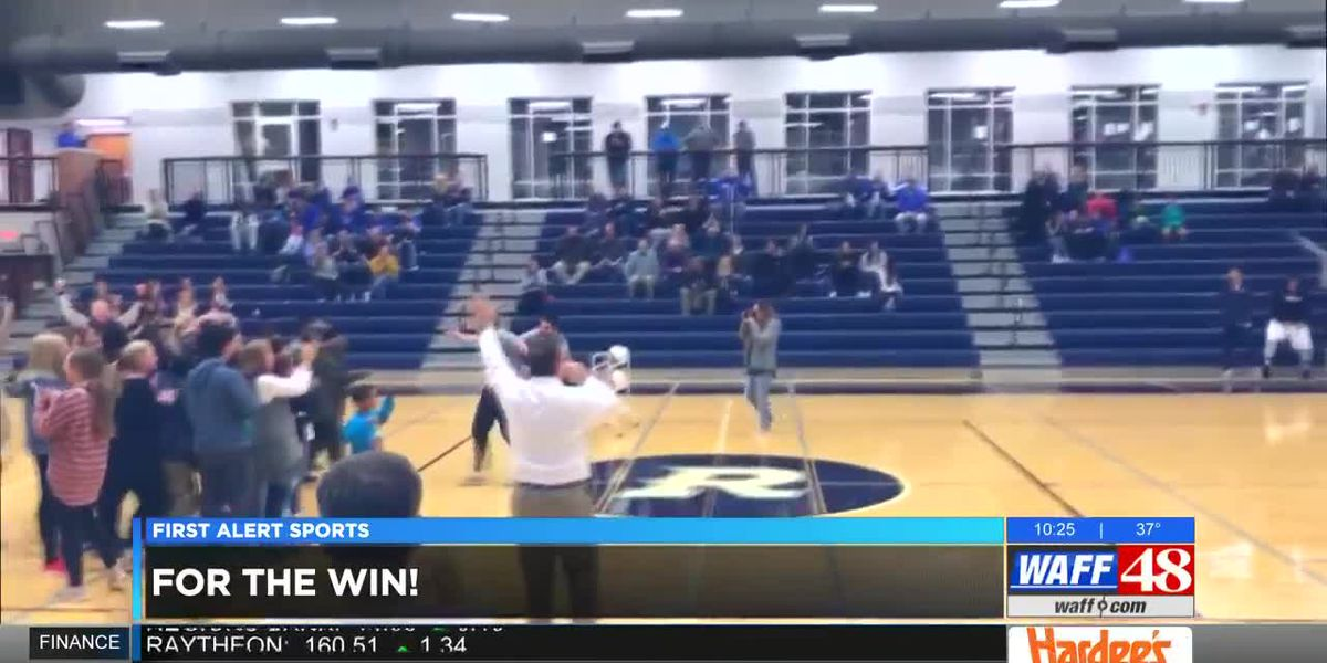 Randolph School student makes half-court shot for charity