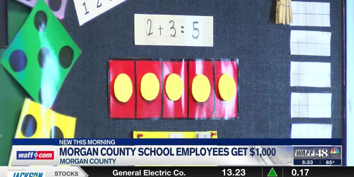 Morgan County Schools employees will receive $1,000 end-of-year bonus