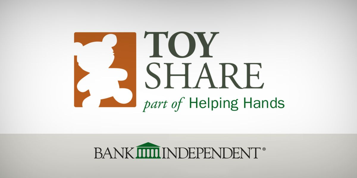 Bank Independent collecting toys for the 9th annual Toy Share