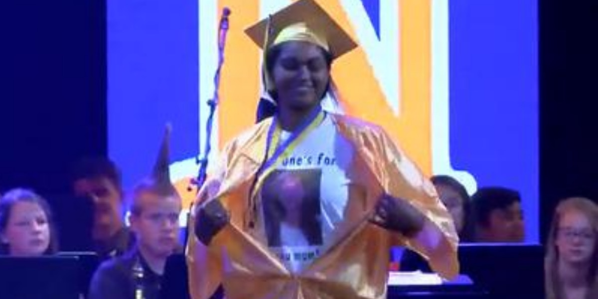Student told she couldn't honor late mother with graduation cap design