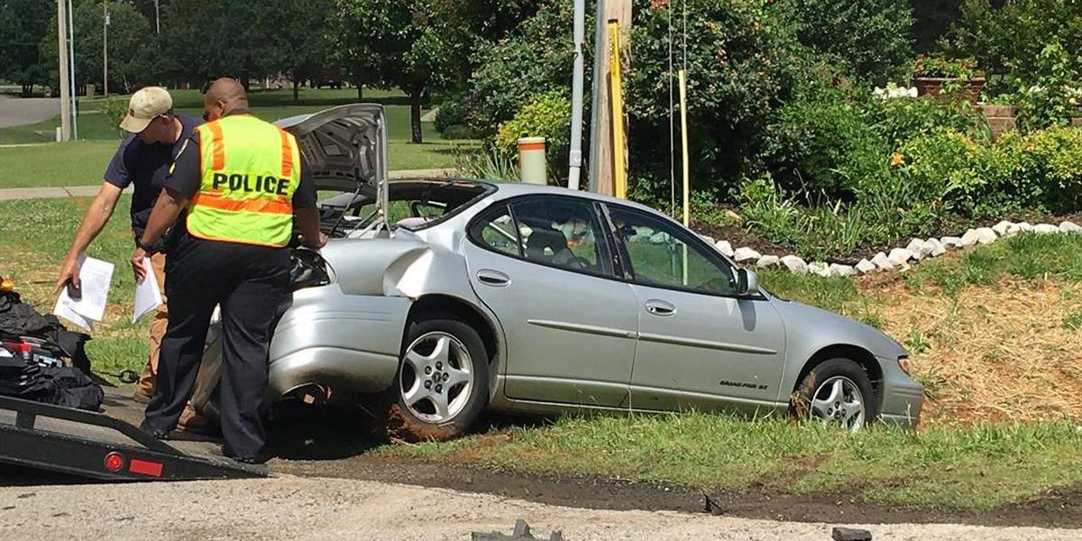 1 transported to hospital after officer-involved wreck