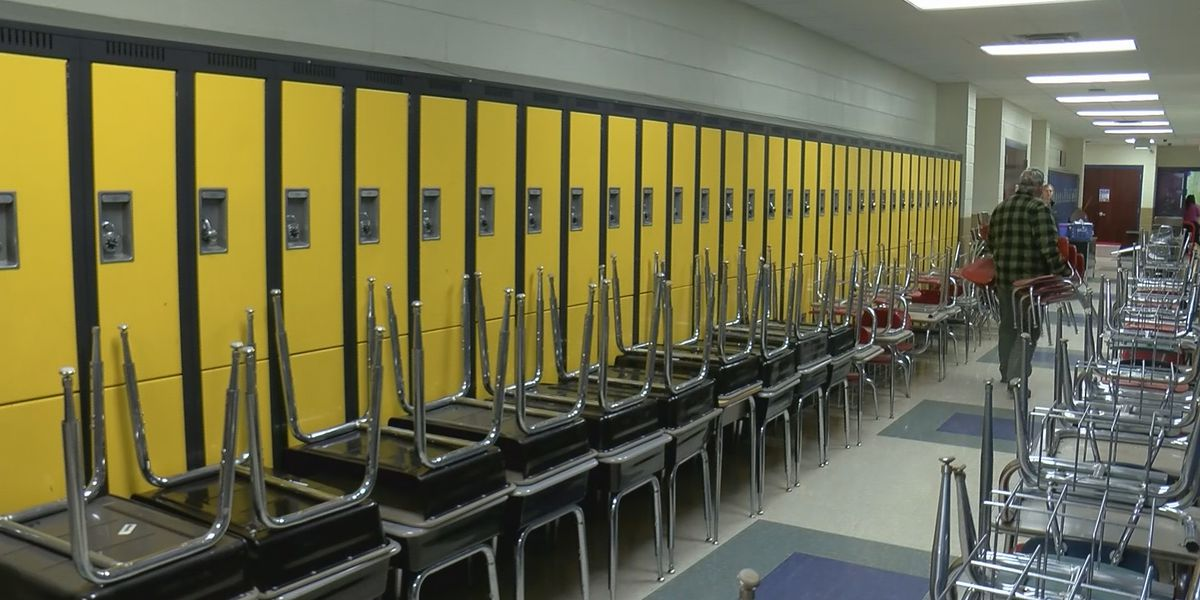 Huntsville City and Dekalb County Schools donate desks and chairs to Marshall County Schools
