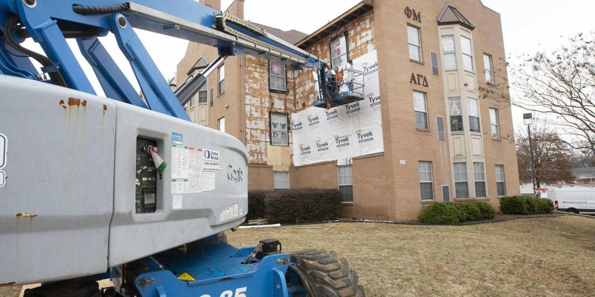 Insulation project ongoing at 4 UNA residence halls