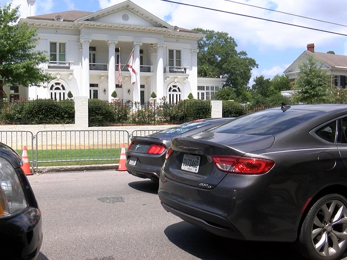 Caravan to Gov. Ivey's mansion protests Alabama Parole Board, mega-prison plan