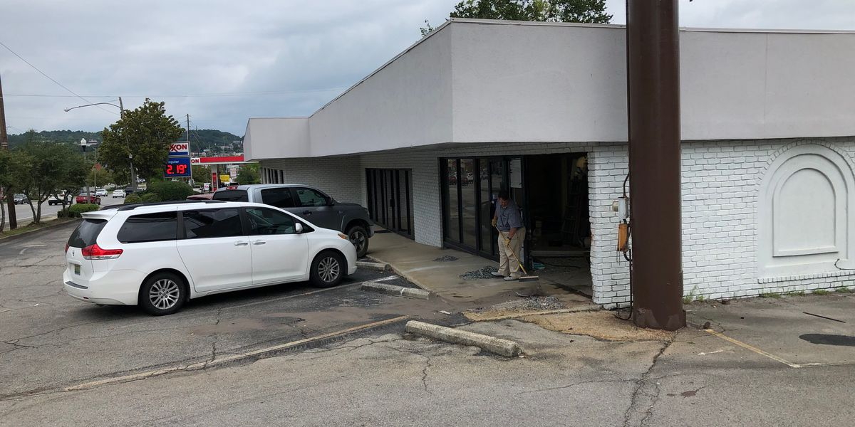 Man accused of stealing car and crashing it into a building after police chase