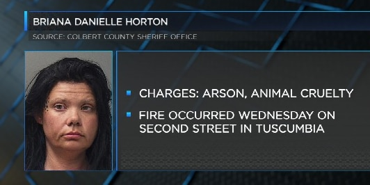Woman charged with arson after fire that killed puppy