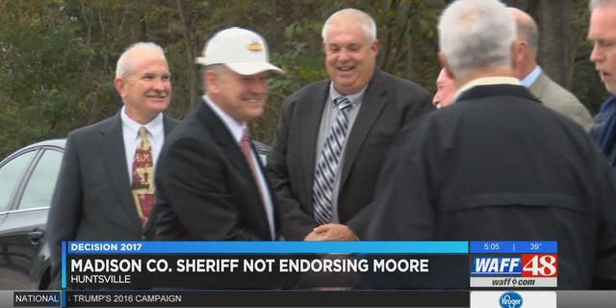 Madison County Sheriff not endorsing Roy Moore