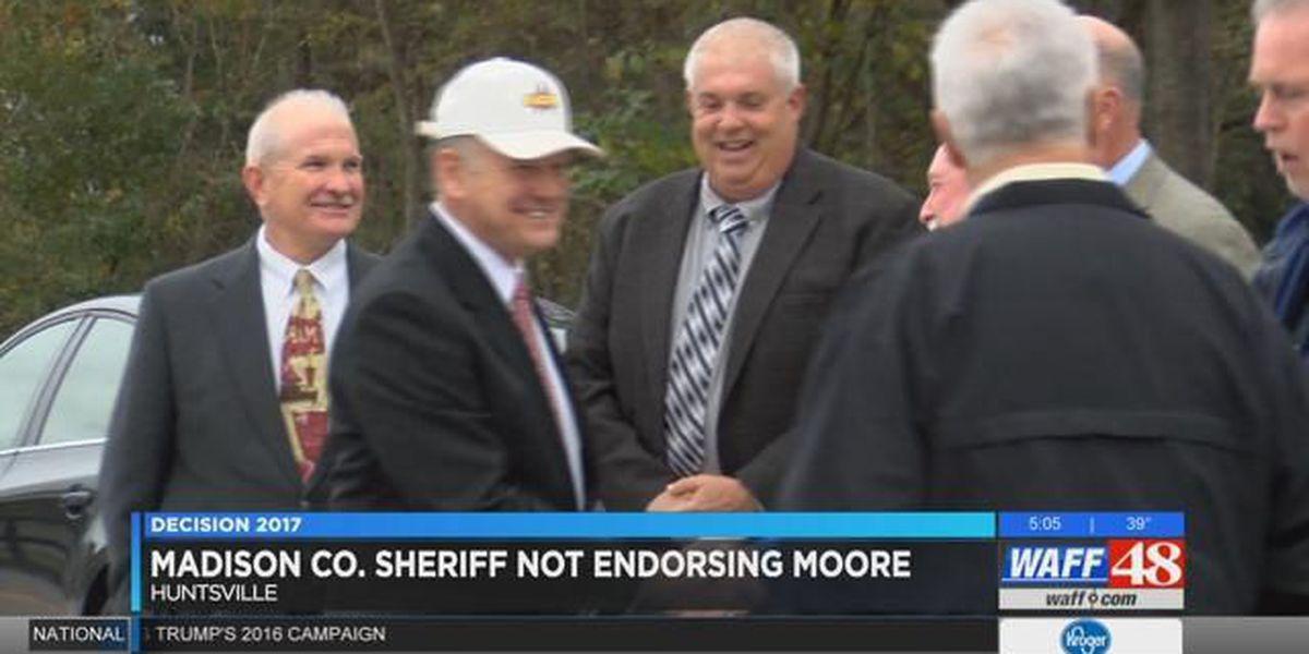 Madison County Sheriff not endorsing Roy Moore