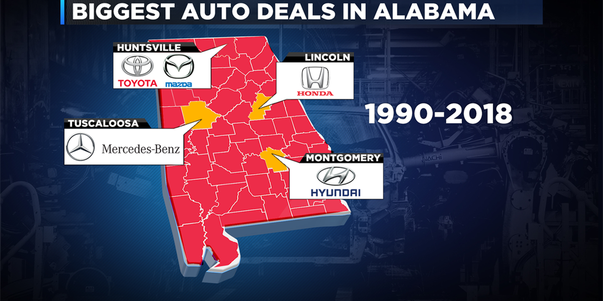 How the Toyota-Mazda deal ranks in Alabama