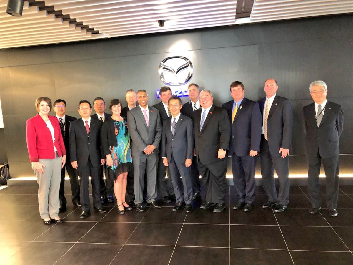 Madison County delegation meets with Toyota, Mazda teams in Japan