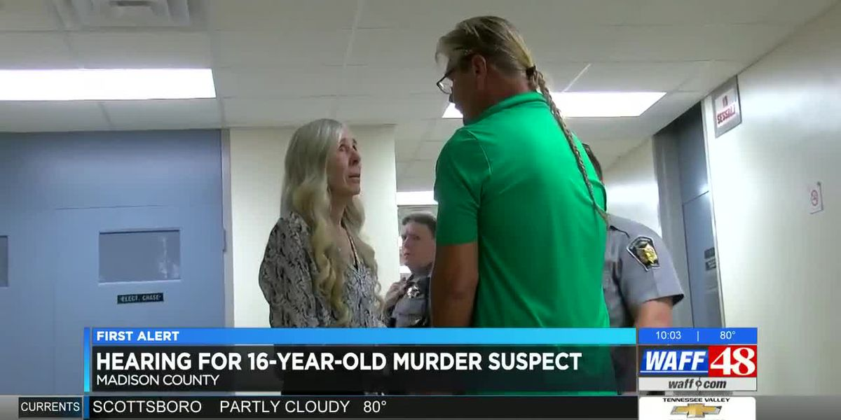 Teen murder suspect's grandfather detained at hearing in Madison County Courthouse