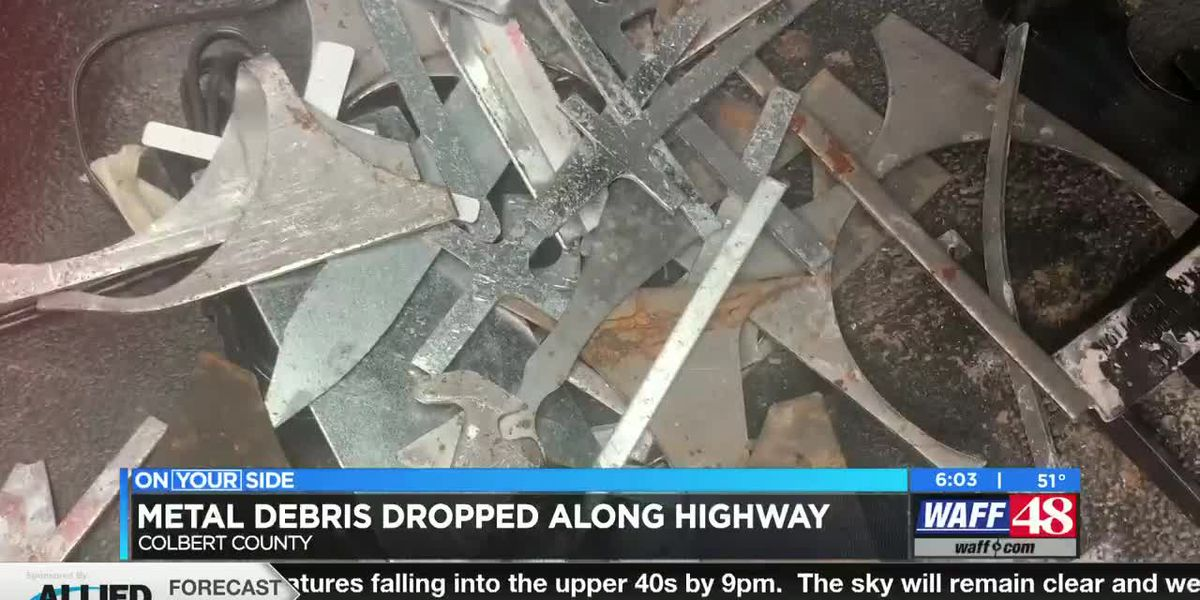 Update on metal debris spill on Alabama highways