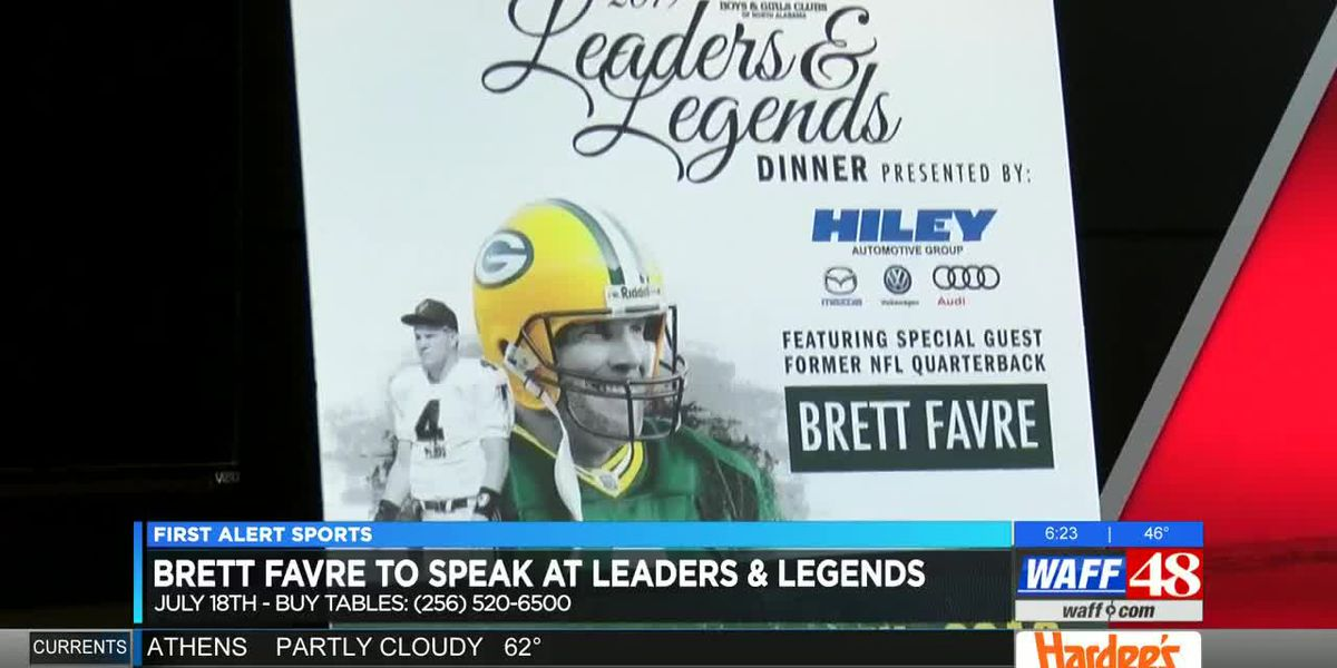 Brett Favre speaking at Huntsville Boys & Girls Club event this summer