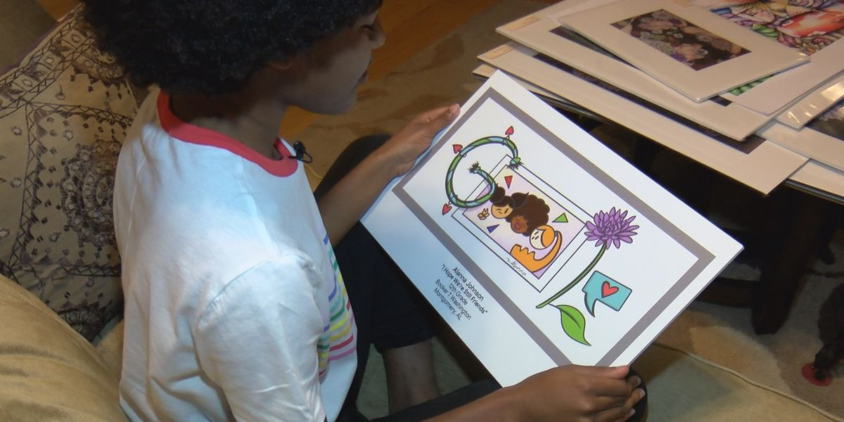 Montgomery girl's artwork could be featured on Google's homepage