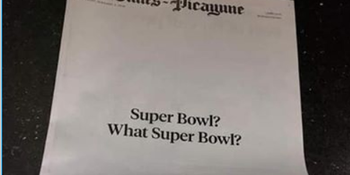 The Times-Picayune's front page sums up how New Orleans felt about the Super Bowl