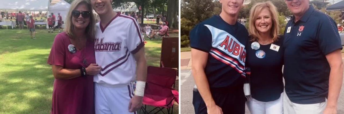 Twin brothers divide house for Iron Bowl