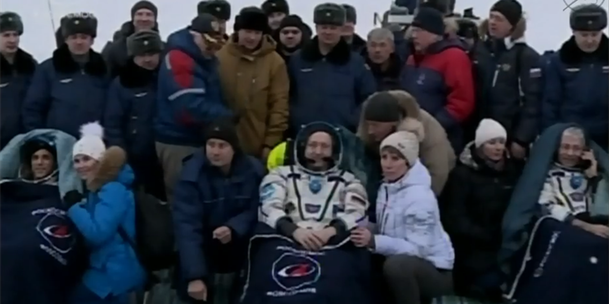 Astronauts return safely from ISS