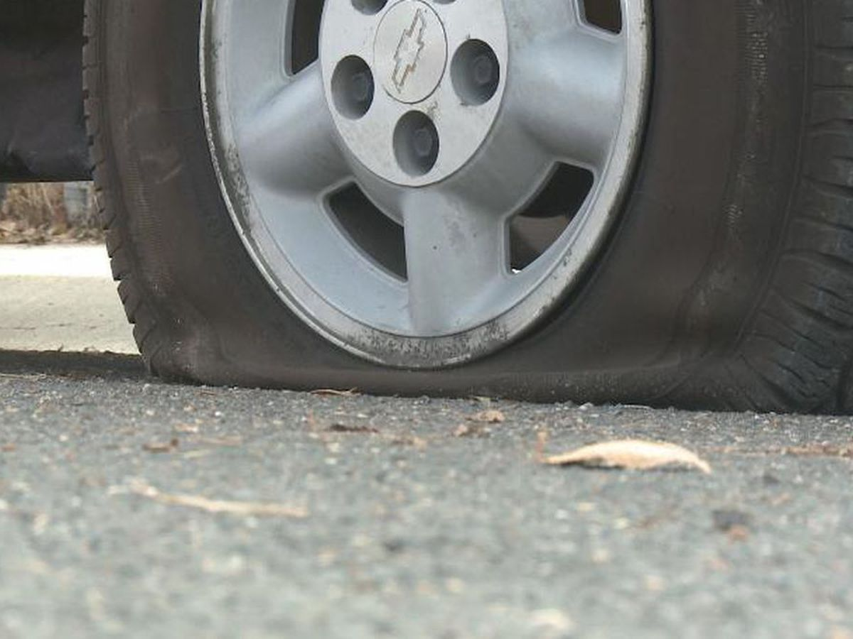 Metal shavings causing multiple flat tires in Colbert County on U.S. 72, AL 20