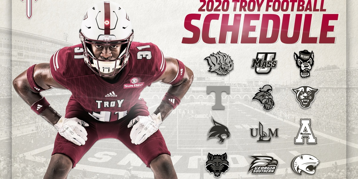 Full 2020 Troy football schedule released