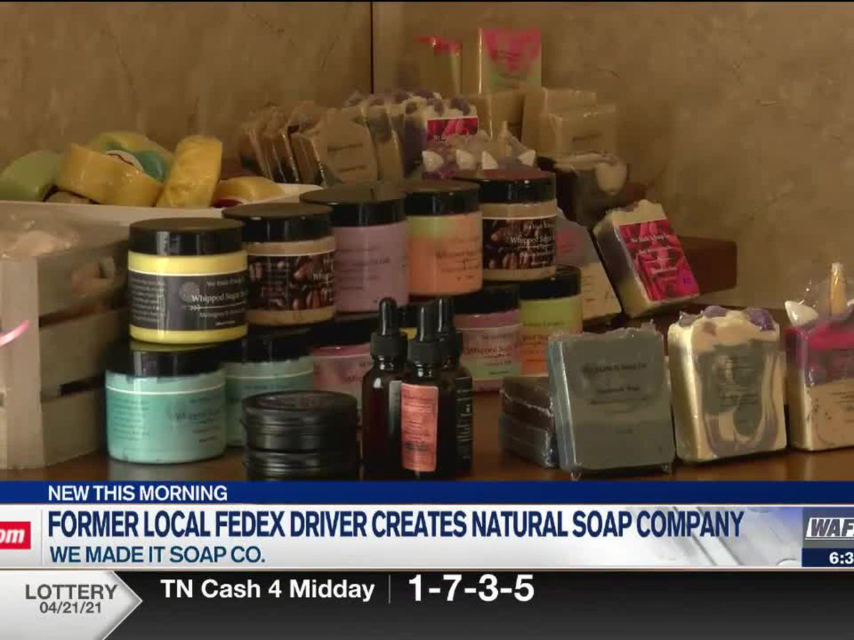 North Alabama FedEx driver creates natural soap company amid pandemic