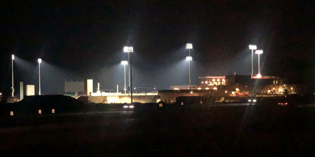 Lights go on for first time at Toyota Field