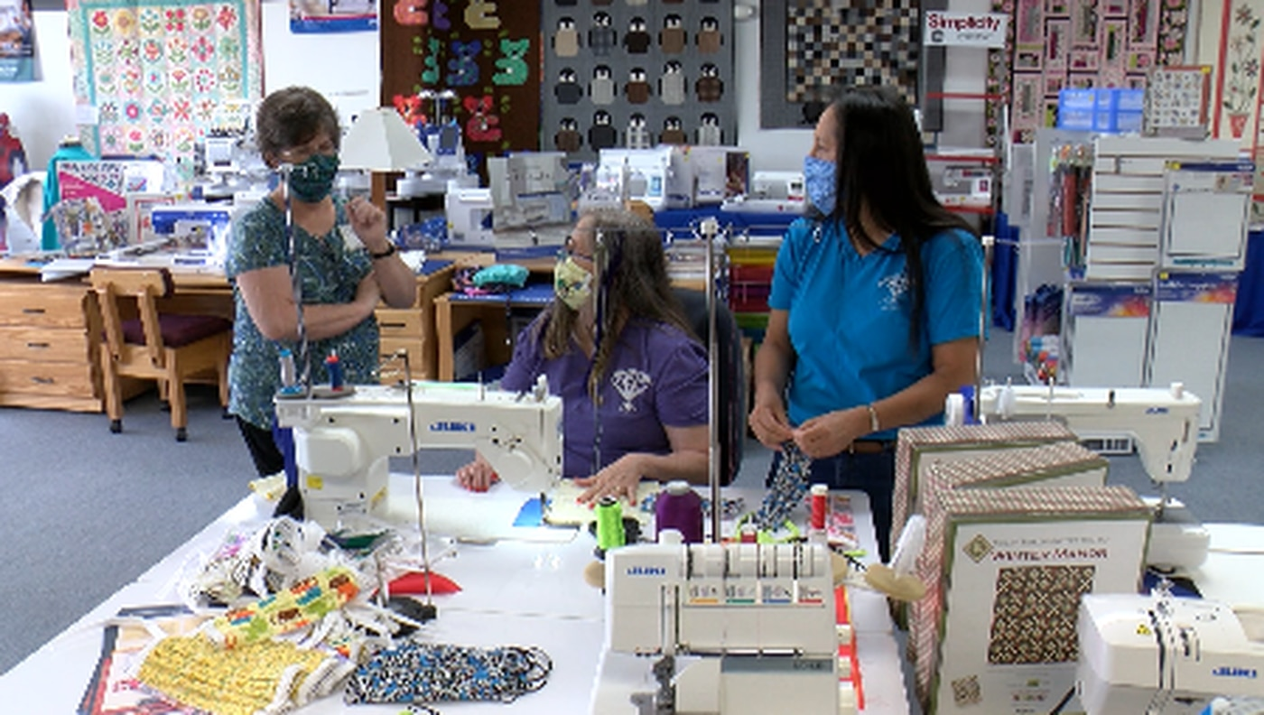 Members of the Heritage Quilters of Huntsville have made over 3,500 masks for health care workers and more.