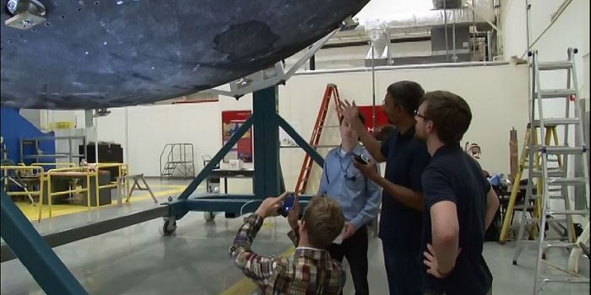 Orion heat shield chills out for inspection in Huntsville