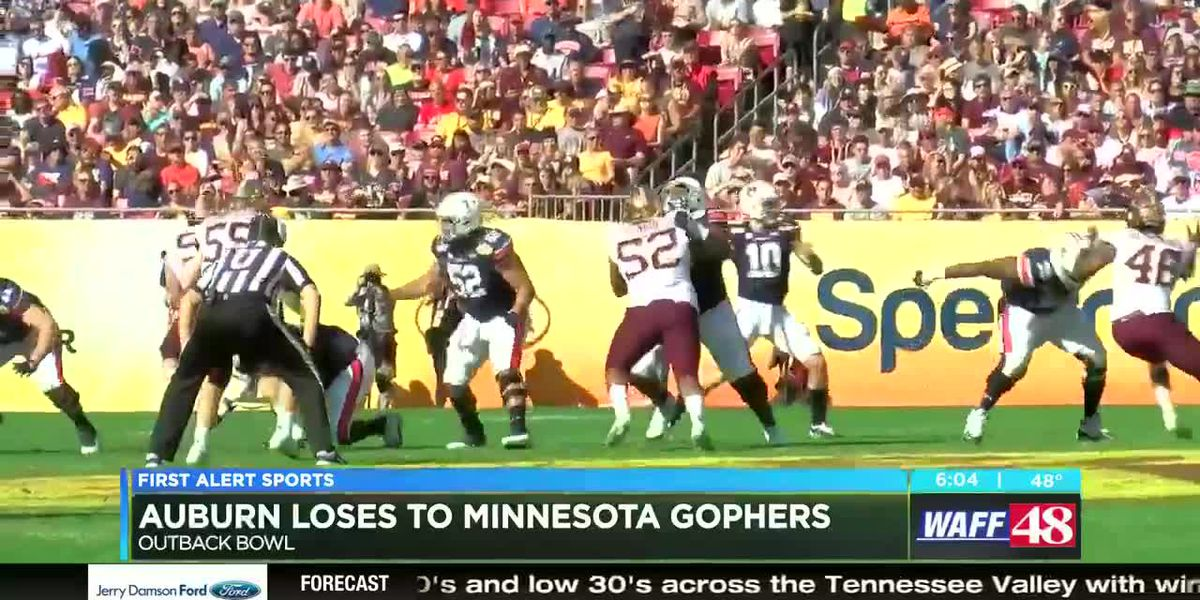 Auburn falls to Minnesota in Outback Bowl