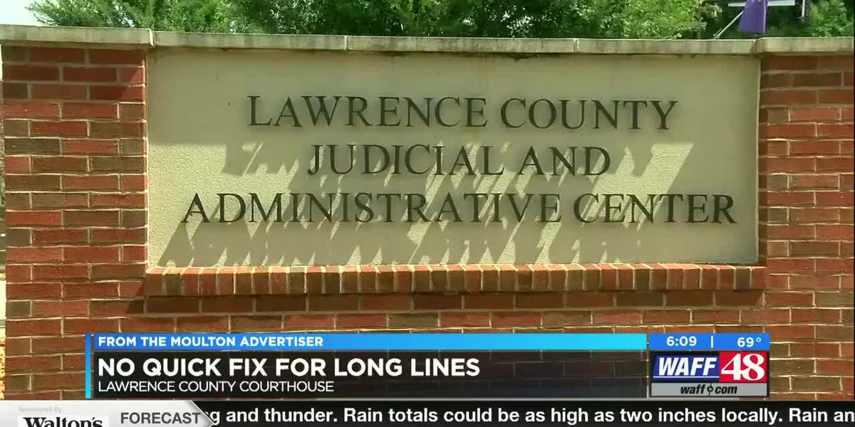COVID-19 leads to longer lines at Lawrence County Courthouse