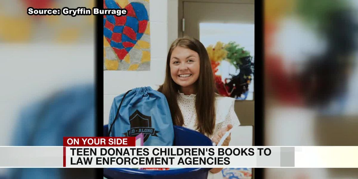 Anniston teen uses bags of books to comfort children during stressful times