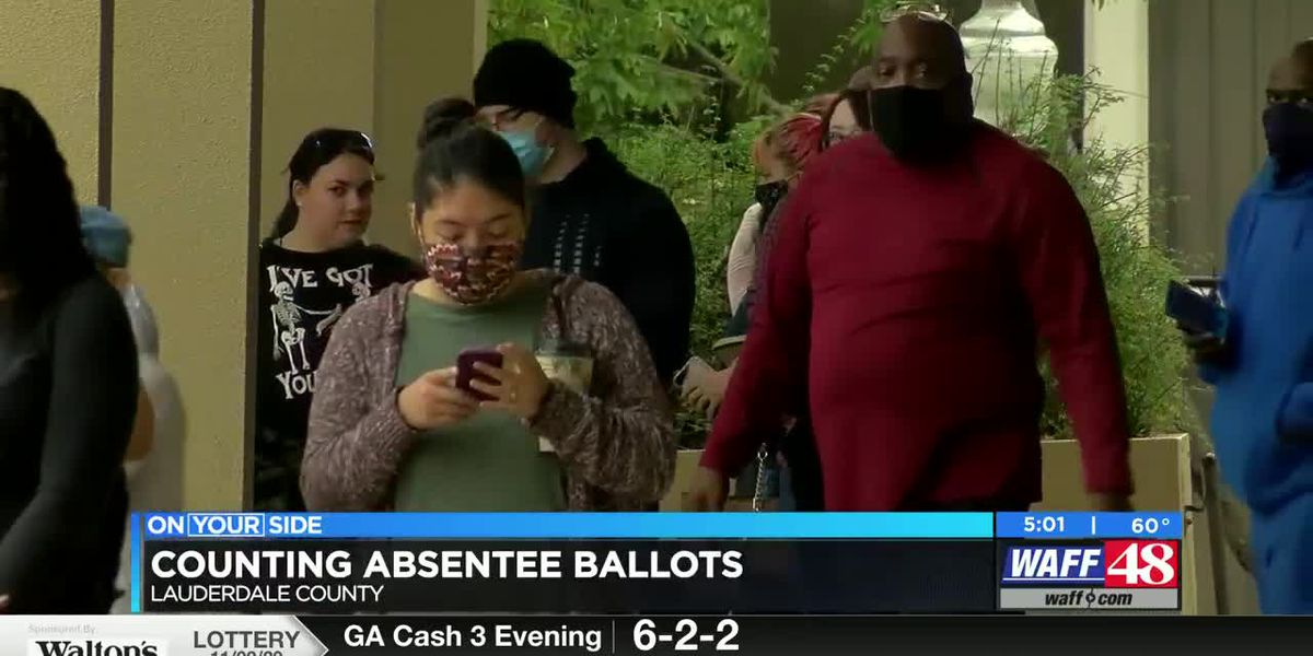 Counting absentee ballots in Lauderdale County