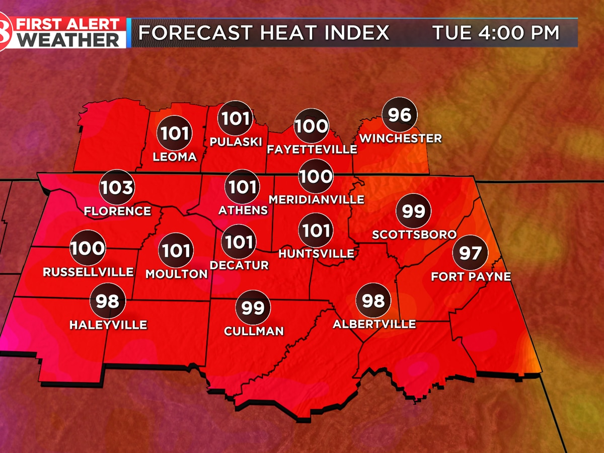 More heat, humidity, scattered rain chances