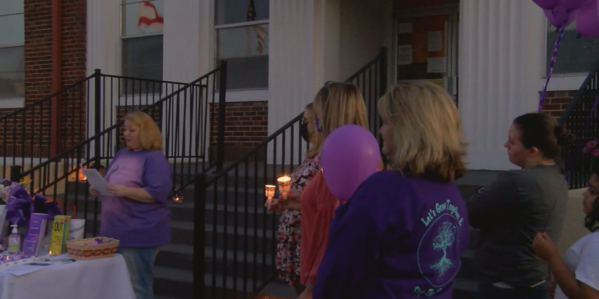 A group in Albertville shines a light on Domestic Violence Awareness