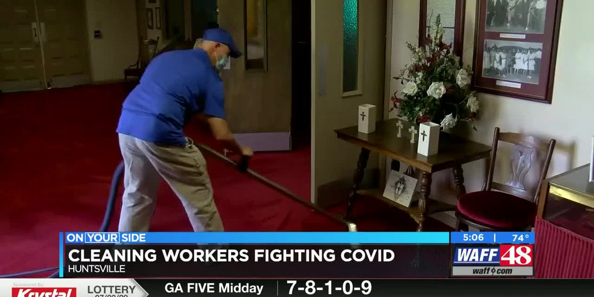 Cleaning workers fighting COVID-19