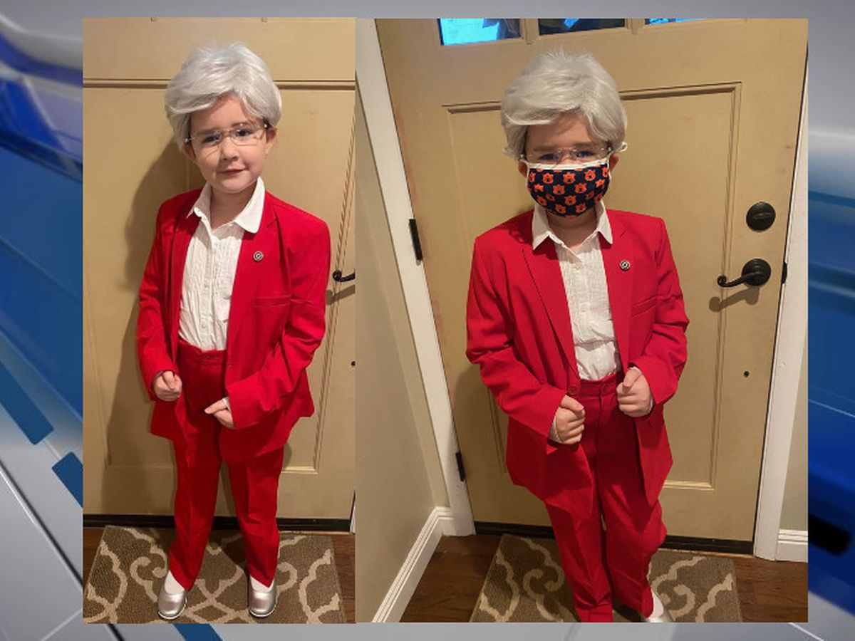 Girl gets governor's attention for spot-on Halloween costume