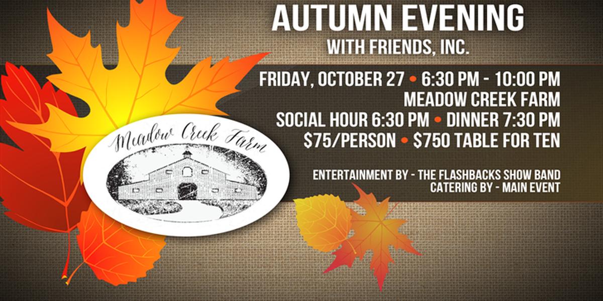 Autumn Evening with Friends, Inc. fundraiser