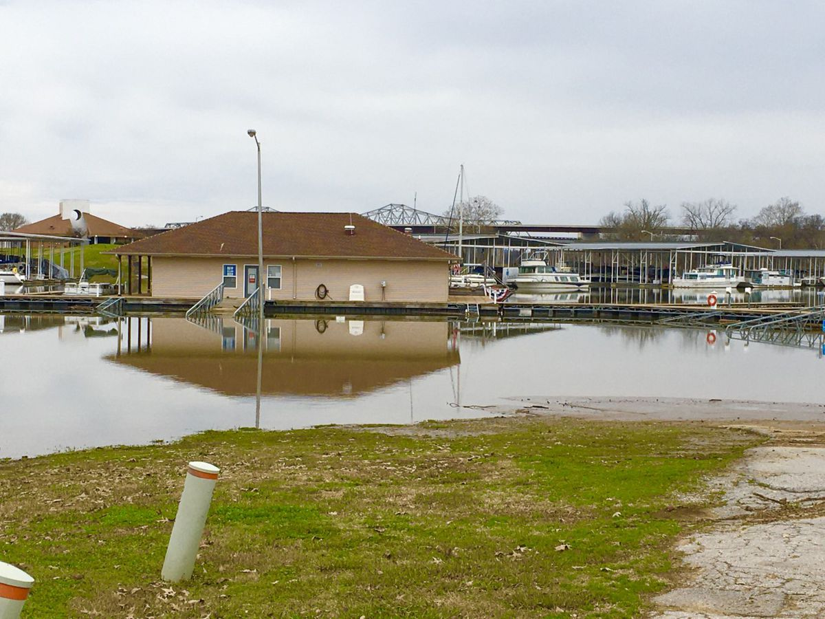 Parts of Ditto Landing remain under water as more rain moves in
