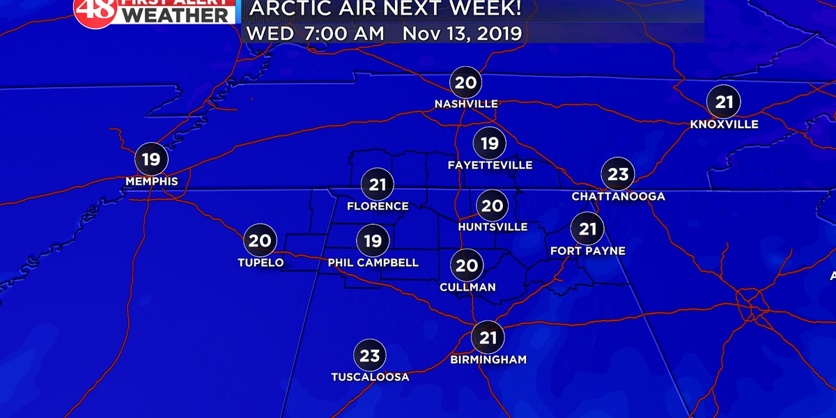 Arctic air next week