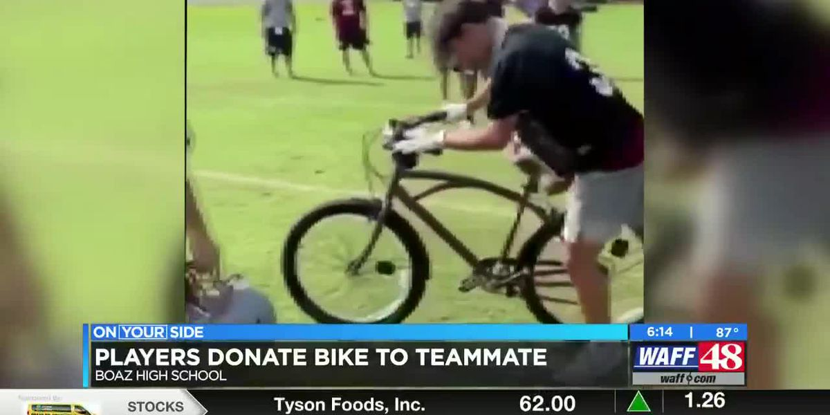 Boaz football team helps out teammate with bike donation
